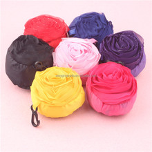Reusable Eco-friendly lovely rose Storage Bag Handbag Foldable Shopping Bags Tote colors can be choosed