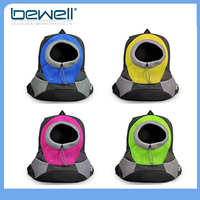 Polyester mesh soft sided pet carrier bag backpack for travel