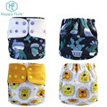 Happy flute digital patterns Baby Reuseable Washable Pocket Cloth Diaper Nappy wholesale