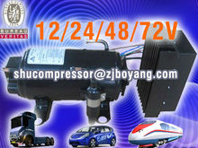 electric air conditioning compressors 12/24/48/72v for electric mini-van electric car locomotiv special vehcile