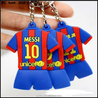 custom made 6cm football shirt keychain for world cup promotion,football team suit for team shirt