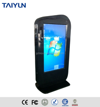 Hd Lcd Touch Screen Kiosk Double Sided TV Screen