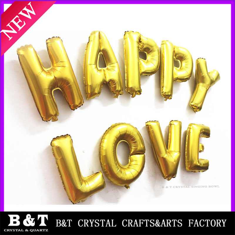 wholesale helium balloon Birthday Party Decoration 16 inch Gold Letter Foil balloon