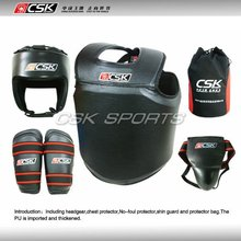 GX9409-1 CSK Leather Wushu Sanda Protective Equipment For Training Or Competetion