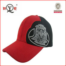 red custom fitted baseball hats with wings