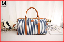 Korean Travel Luggage Suitcase Stripe Leisure Fashion Canvas luggage Bag