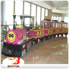 2017 China amusement thrill rides electric trackless train trackless locomotive in china