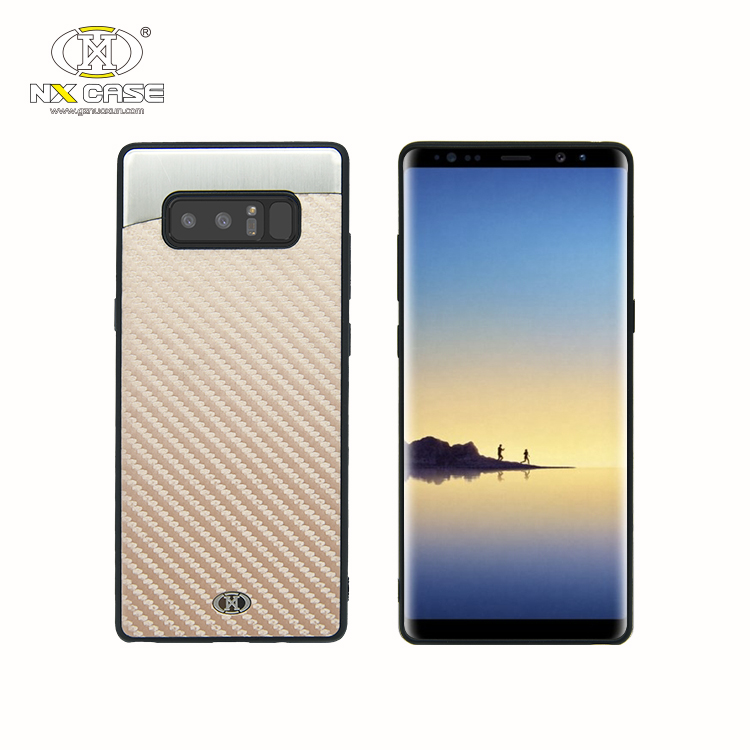 3 in <strong>1</strong> customize carbon fiber cell phone case for samsung note 8 case covers pattern