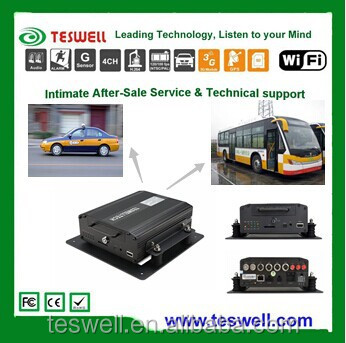 TESWELL TS-610 Vehicle Mobile DVR With 3G/WIFI/GPS, 4 Channel Video Input, WCDMA/EVDO Network Code, CE/ROHS/FCC