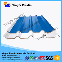 new style stylish corrugated clear PVC plastic hollow board roof tiles