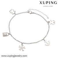 74510-xuping fashion jewelry high quality fancy designer kundan charm anklets