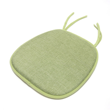 Green Yarn-Dyed Fabric thin chair seat pad