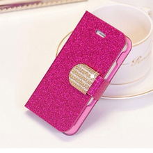 2014 new Wallet Case Diamond Wallet Case for samsung S4 ZOOM