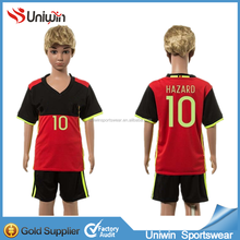 Stock famous club children soccer jersey with player name