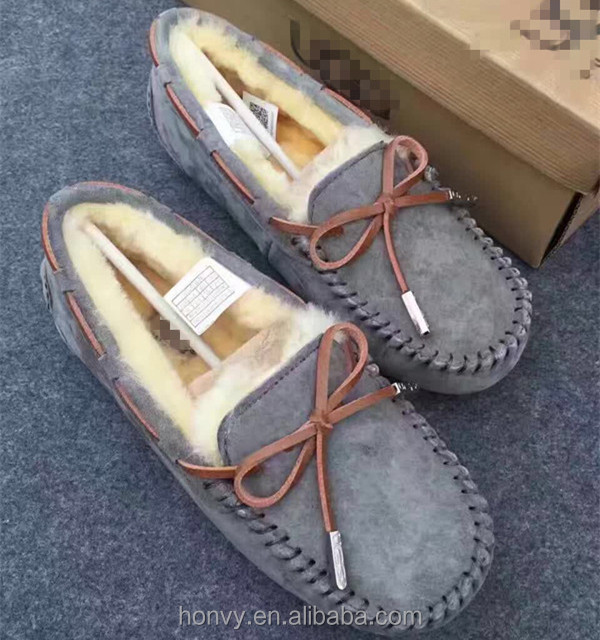 Suede snow women leather casual shoes