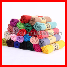 Fashion Pure Color Scarf Big Size Single Color Lady Voile Scarf