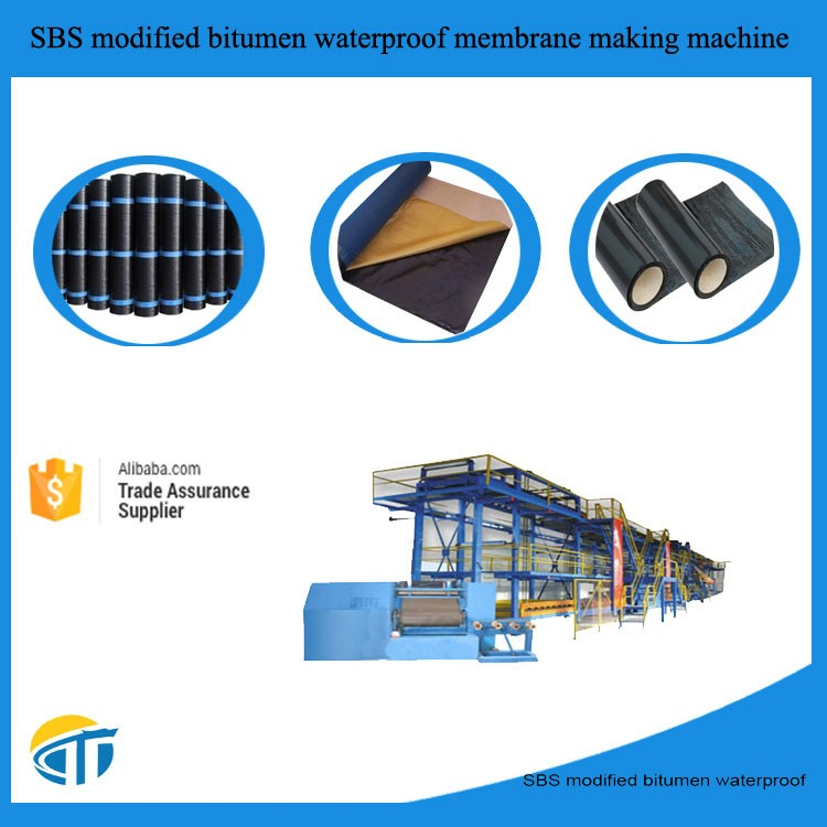 Asphalt Roll ofwaterproof membrane roofing felt Production Line --- Automatic & Installation overseas