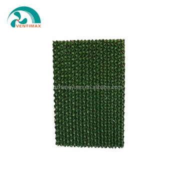 Evaporative cooling pad for poultry farm cell pad