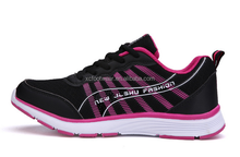 ST002 women fashion breathable lace-up sport running shoes