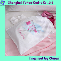 Custom 100% cotton travel lingerie bags
