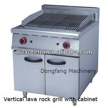 vertical /free standing stainless steel gas lava rock grill with cabinet/restaurant gas lava rock grill(JSGB-989)