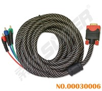 Factory Price 5m VGA Cable Male to Male 3RCA to VGA Cable