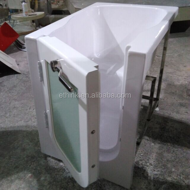 Portable cheap acrylic handicap walk bathtub