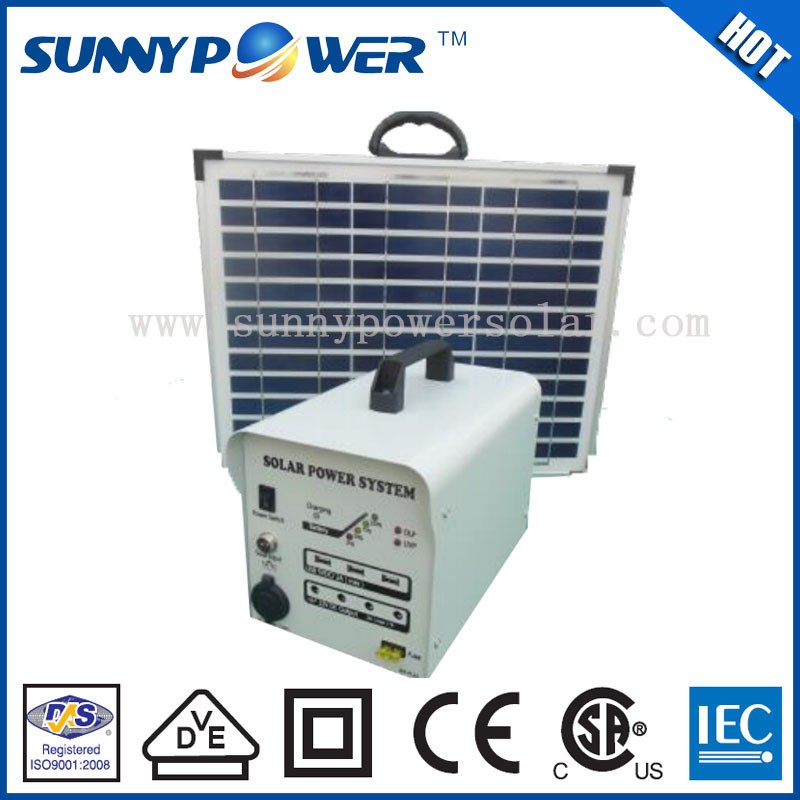 lower price 80w solar power emergency light and portable soalr power system with battery