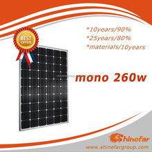 solar sel mono 260Wp for mobile home solar panel system