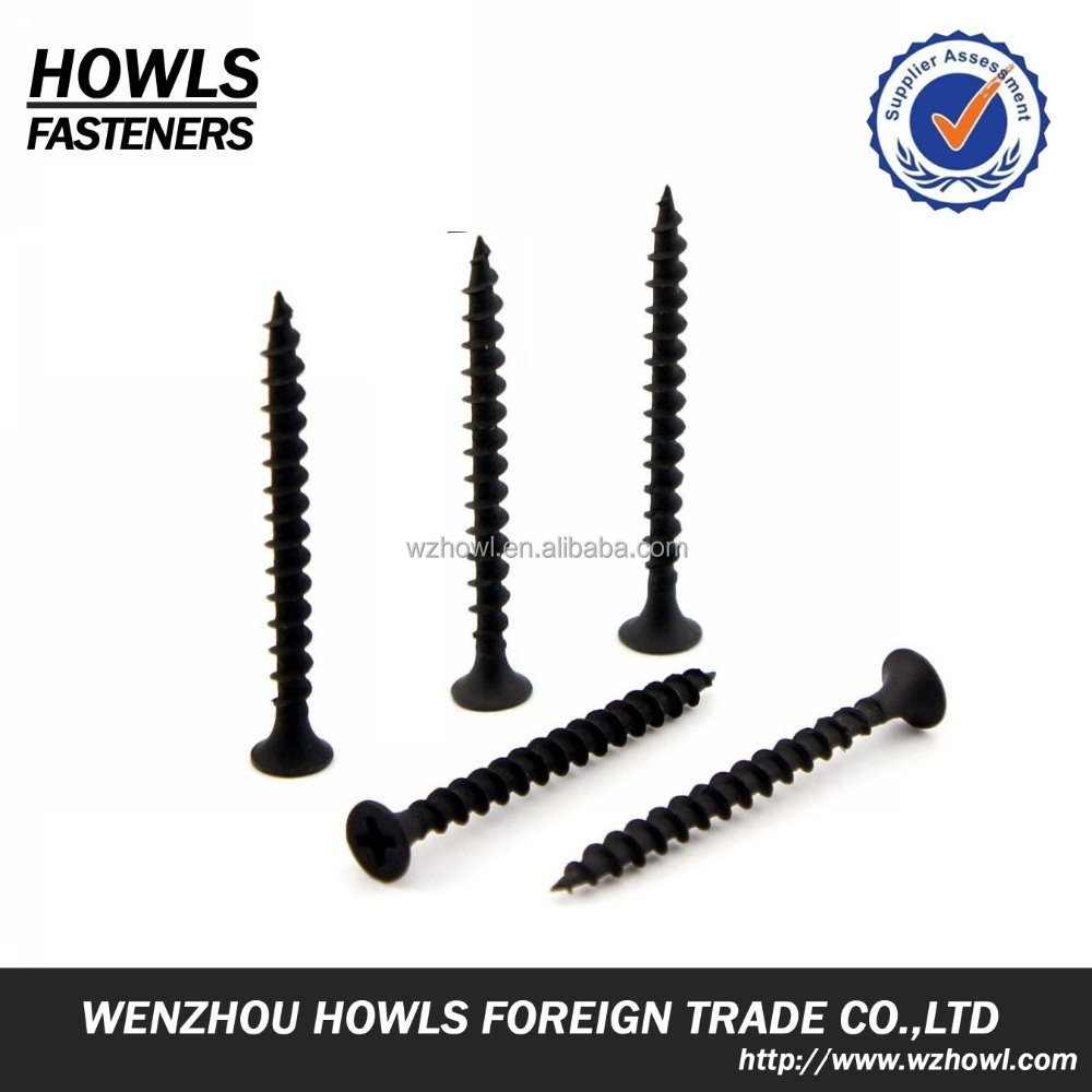 DIN18182 Black phosphate screw DIN 18182 bugle head screw drywall