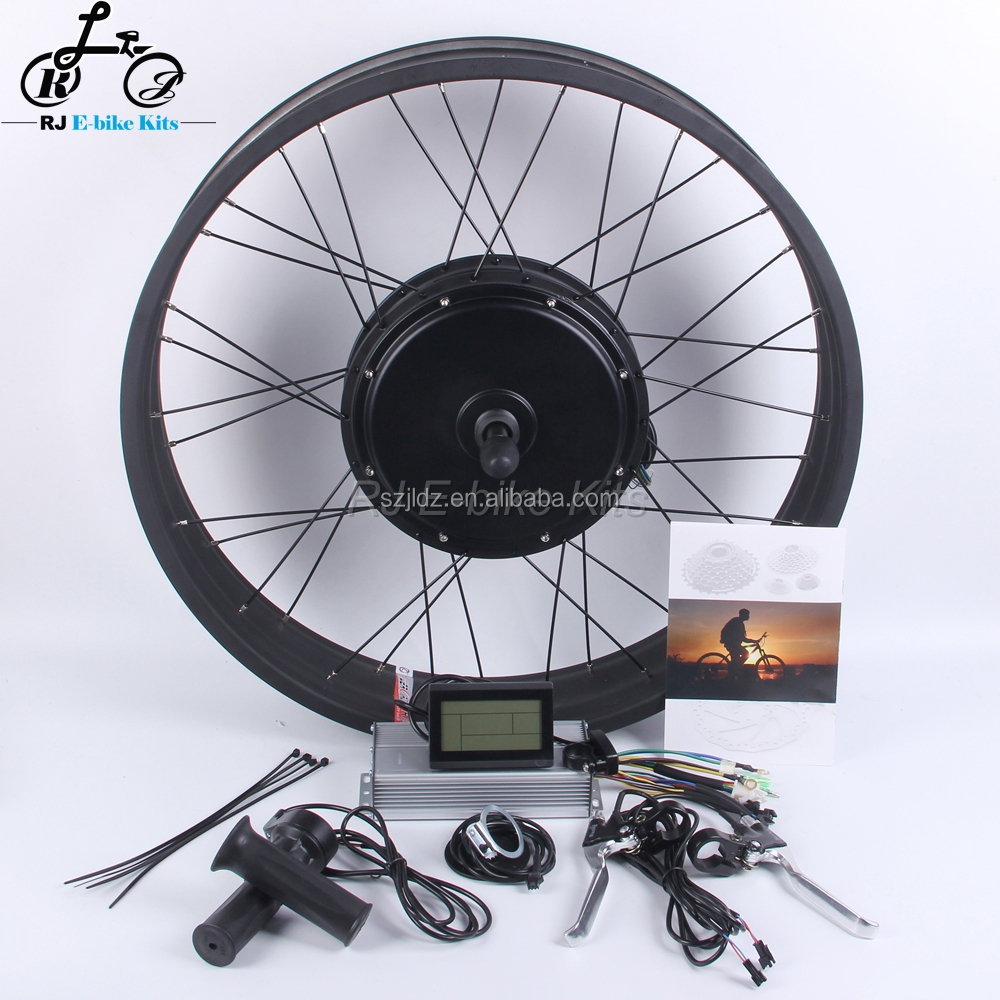 48V 1500W Fat Tire Electric Bike Kit with Colorful Rims