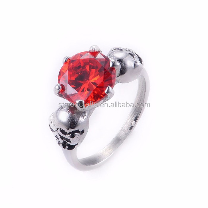 Top Quality stainless steel ring Popular skull rings SRA183