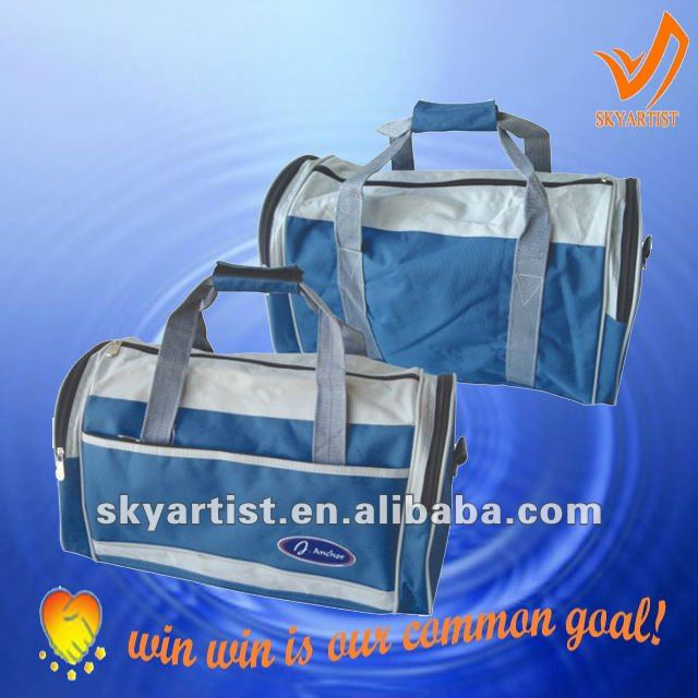 hot sell round sports travel bag with shoulder belt