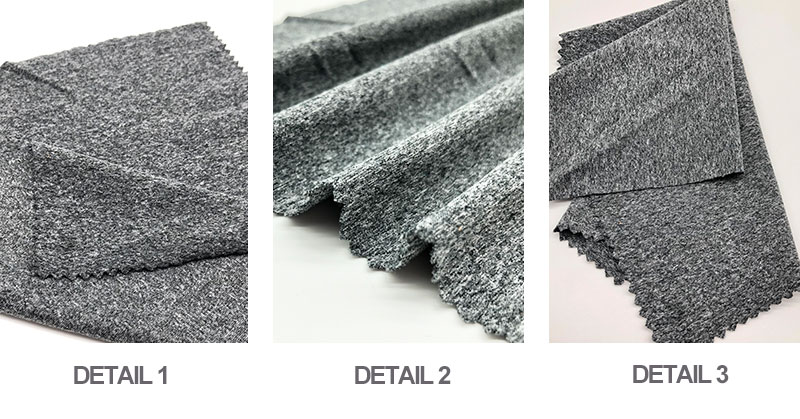 Popular Weft Knitted Cationic Two-tone  Fabric Brushed Polyester Fabric