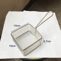 Eco-friendly stainless steel cooking French fries wire mesh deep filter non stick mini fry basket