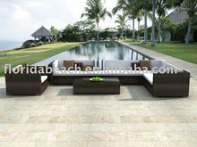 Multicolored outdoor sofa