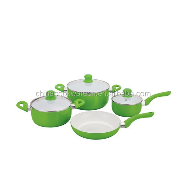 eco ceramic cookware set wholesale fry pan saucepan saucepot kitchen equipments for restaurants with low price