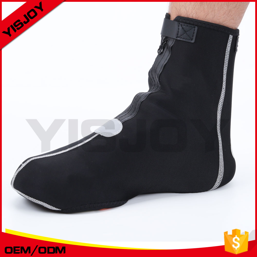 Reflective waterproof cycling shoe covers men