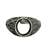 Beadsnice thailand antique sterling silver adjustable gemstone ring base rings base finding diy jewelry making ID 31757