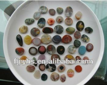 natural agate rain flower pebbles