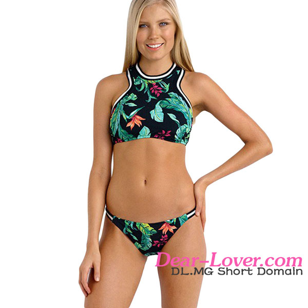 hot sexy girl Jungle Out There Sporty micro kini beach bikini