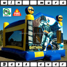 batman cheap bounce houses with basketball hoop n climbing n slide,commercial bounce houses for sale