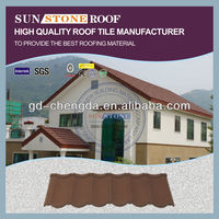 Colorful Maintenance Free Zinc Aluminum Stone Coated Metal Roofing Shingle