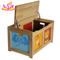 Wholesale cheap kids wooden storage box for toy storage W08C137