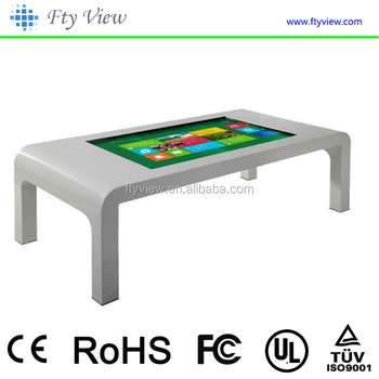 New design TFT 47 inch indoor restaurant capacitive touch screen table in advertising player