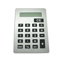 A5 Size Thin Large Button Calculator, 8 Digits Electronic Calculator for Promotional Gifts