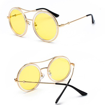 High Quality Wholesale Fashion Customized Sports Sunglasses Retro  round Sunglasses Women