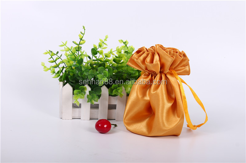 2016 wholesale newest ladies mini promotional dust drawstring gift bag