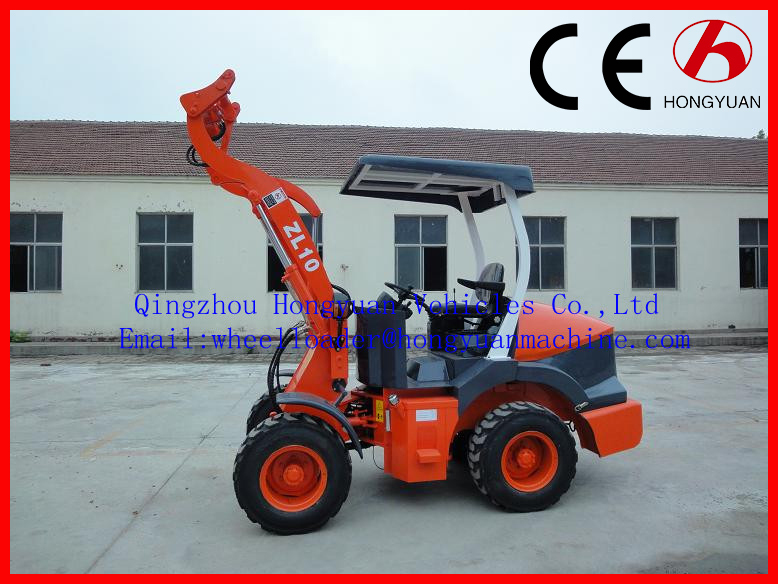 2015 new style 1000KG mini wheel loader with CE approved.Xinchai 490 Euro iii engine.joystick.quickhitch.
