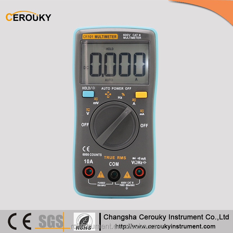 Digital Multimeter/ AC DC Voltage DC Current Resistance Diode Battery Test Tester w/ 3999 Reading CR101